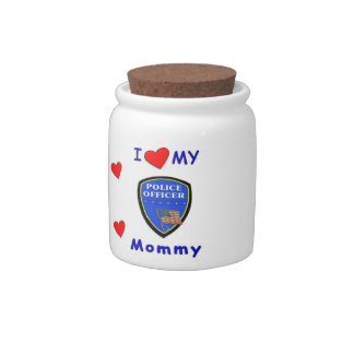 Police Mom Love Candy Dishes