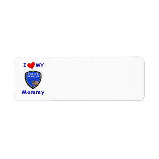 Police Mom Love Return Address Label