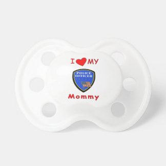Police Mom Love Baby Pacifiers