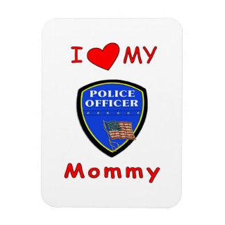 Police Mom Love Rectangular Photo Magnet