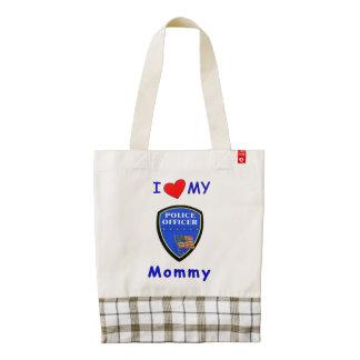Police Mom Love Zazzle HEART Tote Bag