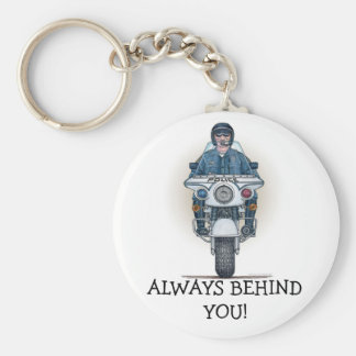 Police Motorcycle Keychain