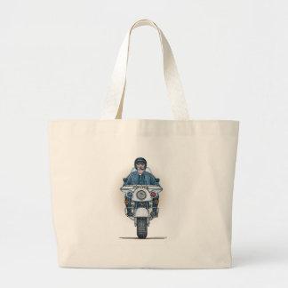 Police Motorcycle Tote Bag