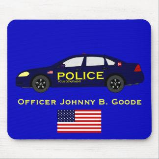 Police Mousepad w/ American Flag