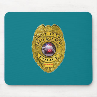 Police_Move_Over Mouse Pad