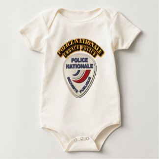 Police Nationale France Police with Text Baby Bodysuit