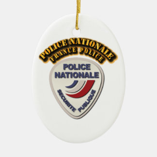 Police Nationale France Police with Text Ceramic Ornament