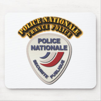 Police Nationale France Police with Text Mouse Pad
