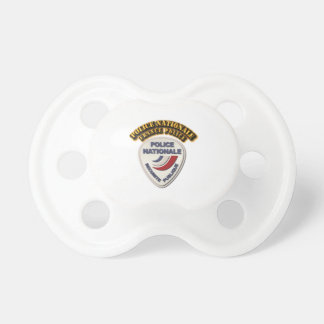 Police Nationale France Police with Text Pacifier