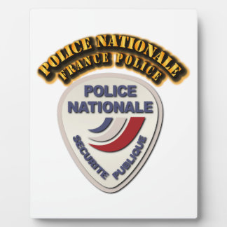 Police Nationale France Police with Text Plaque
