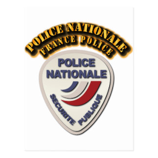 Police Nationale France Police with Text Postcard