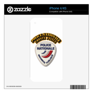 Police Nationale France Police with Text Decal For iPhone 4