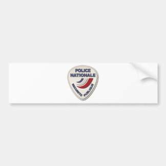 Police Nationale France Police without Text Bumper Sticker