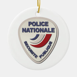Police Nationale France Police without Text Ceramic Ornament