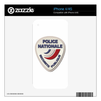 Police Nationale France Police without Text Decals For The iPhone 4S
