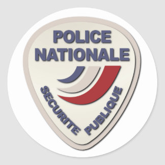 Police Nationale France Police without Text Round Sticker