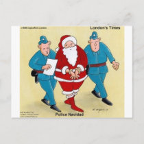 Police Navidad Funny Christmas Santa Gifts & Cards