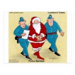 Police Navidad Funny Christmas Santa Gifts & Cards Postcard