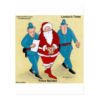 Police Navidad: Santa's Been Very Bad Postcard