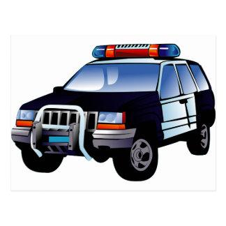 Police Office Design Car Digital Art Destiny Postcard