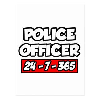 Police Officer 24-7-365 Postcard