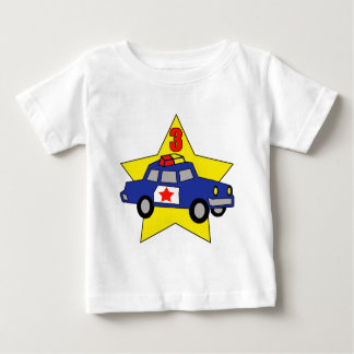 Police Officer 3rd Birthday Gifts Baby T-Shirt