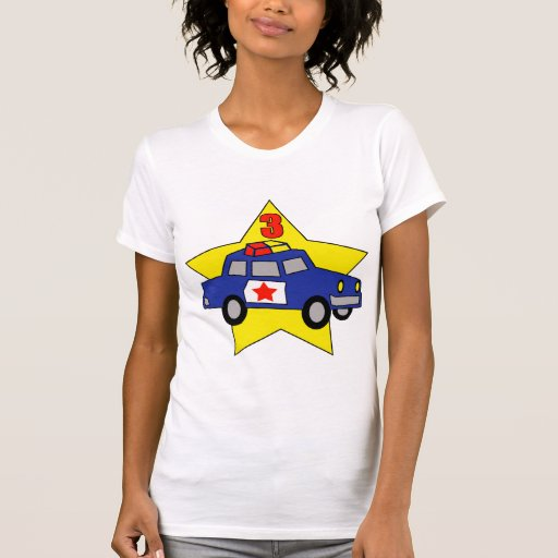 Police Officer 3rd Birthday Gifts Shirts
