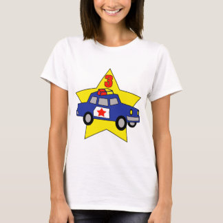 Police Officer 3rd Birthday Gifts T-Shirt