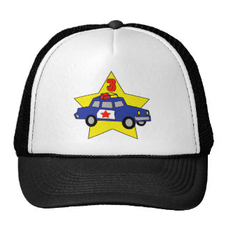 Police Officer 3rd Birthday Gifts Trucker Hat