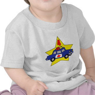 Police Officer 4th Birthday Gifts T-shirt