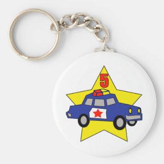 Police Officer 5th Birthday Gifts Basic Round Button Keychain