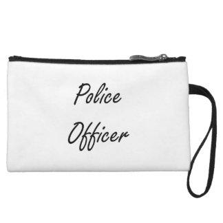 Police Officer Artistic Job Design Wristlet Clutches
