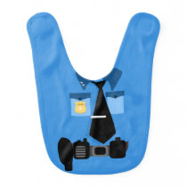 Police Officer Baby Bib