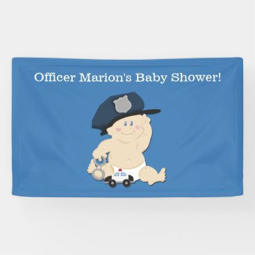 Toddler & Baby themed Police Officer Baby Cop Custom Banner