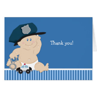 POLICE OFFICER Baby Shower Thank you notes Greeting Cards