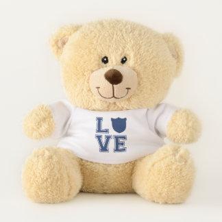 Police Officer Badge - L O V E Teddy Bear