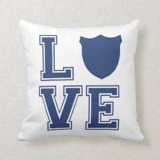 Police Officer Badge - L O V E Throw Pillow