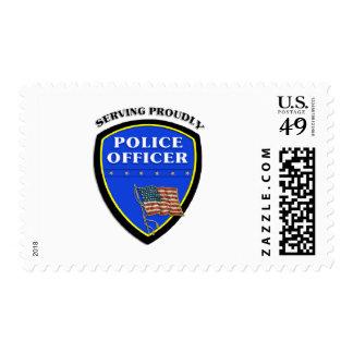 Police Officer Badge Postage