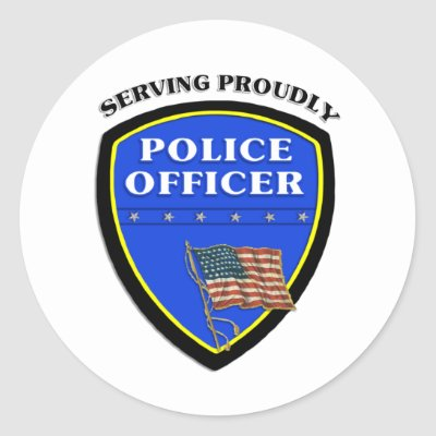 Police Officer Badge Round Sticker by bonfire46. Shop for Police gifts,