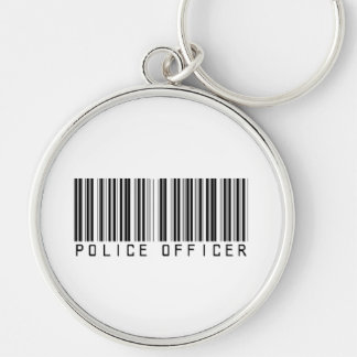 Police Officer Bar Code Keychain
