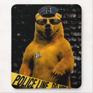 Police Officer Bear! Mouse Pad