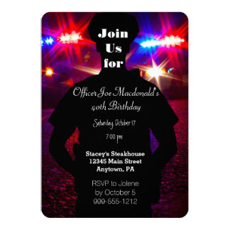 Police Officer Birthday Party Invitations