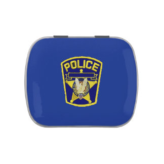 Police Officer Jelly Belly Candy Tin