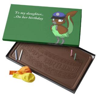 Police Officer Chocolate/Mint Reptilian Bird 2 2 Pound Milk Chocolate Bar Box