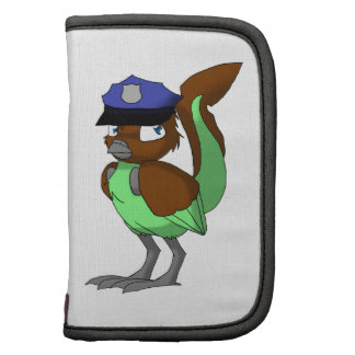 Police Officer Chocolate/Mint Reptilian Bird Planners