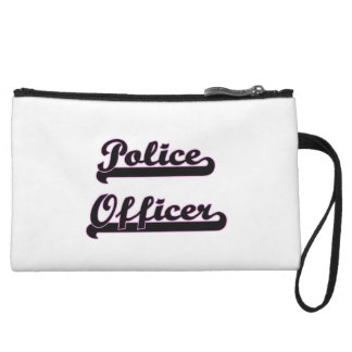 Police Officer Classic Job Design Wristlet Clutches