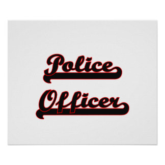 Police Officer Classic Job Design Poster