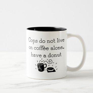 Coffee Themed Police Officer Coffee Mug