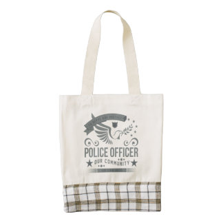 Police Officer Commitment Zazzle HEART Tote Bag