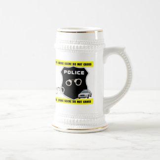 Police Officer Crime Scene Beer Stein Coffee Mug